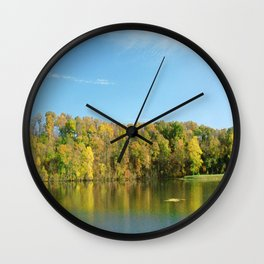 Lakeside Reflections Wall Clock