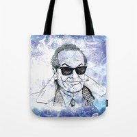 jack nicholson Tote Bags featuring Jack by Rabassa