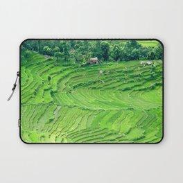 Mountainside rice paddies - Greg Katz Laptop Sleeve