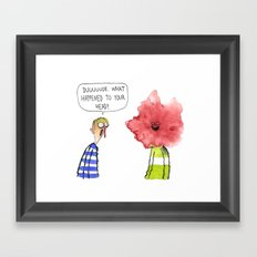 What Happened To Your Head? Framed Art Print