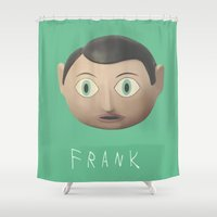 frank Shower Curtains featuring Frank by Earl of Grey