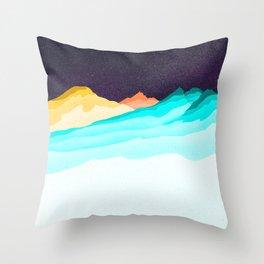 Three Sisters Mountains Throw Pillow