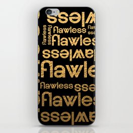 Flawless Gold Metallic Repeated Typography iPhone Skin