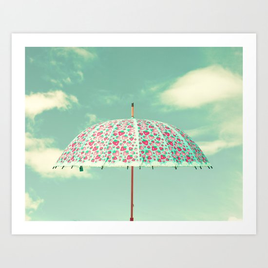 Rain, rain, go away Art Print