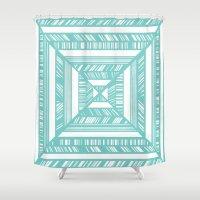 frames Shower Curtains featuring Frames by • Amanda Khoo •