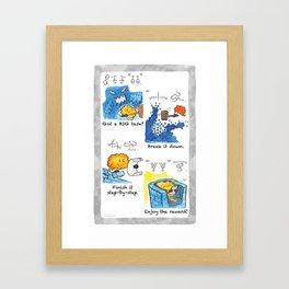 Got a BIG task? Framed Art Print