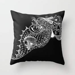 Black Tie Peacock Throw Pillow