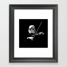 Dark Violinist Warrior Framed Art Print