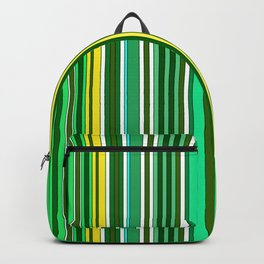 GREEN SPRING STRIPES Backpack