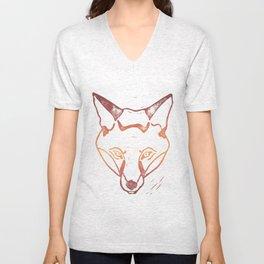 Autumn Fox Unisex V-Neck