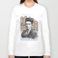 kafka Long Sleeve T-shirts featuring Kafka by Nina Palumbo Illustration