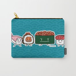 Happy Sushi Brothers rice Japanese shrimp salmon Carry-All Pouch
