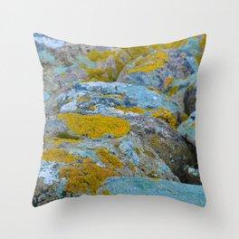 Colourful rocks Throw Pillow