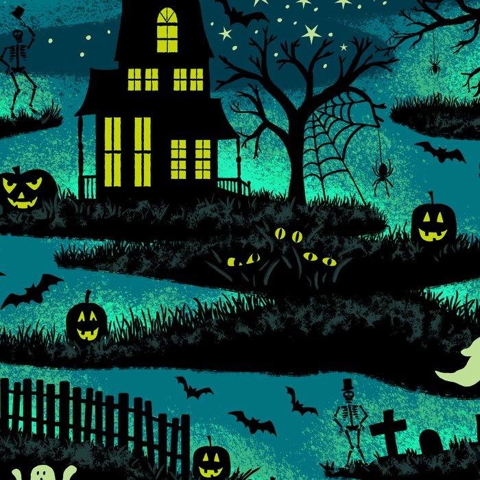 Halloween Night - Fox Fire Green Leggings