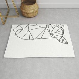 Geometric Doe (Black on White) Rug