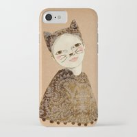 kiki iPhone & iPod Cases featuring Kiki Kitty by Irena Sophia