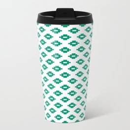 Emerald Small Woven Diamonds Metal Travel Mug