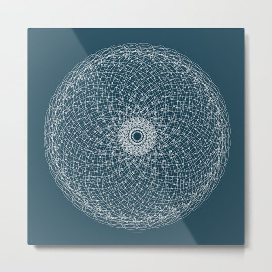 Ornament – Blossomsphere Metal Print