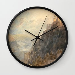 "J.M.W. Turner ""Rheinfels Looking to Katz and Gourhausen"" Wall Clock"