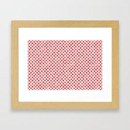 Polka Dot Red and Pink Blotchy Pattern Framed Art Print