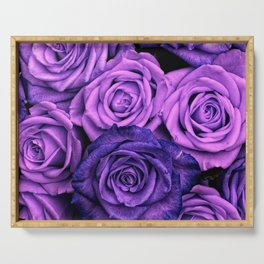 Purple Roses Serving Tray