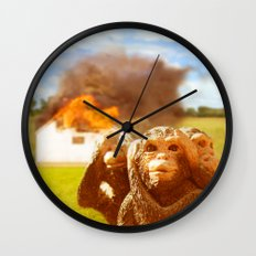 Monkeys Make Bad Pets. Wall Clock