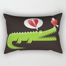 Alligator in Love Rectangular Pillow