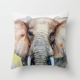 Chestnut Brown Elephant Throw Pillow