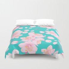 sakura blossoms Duvet Cover