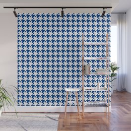 Blue Classic houndstooth pattern Wall Mural