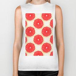 grapefruit pattern Biker Tank