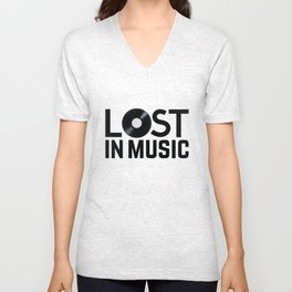 Lost in Music Unisex V-Neck