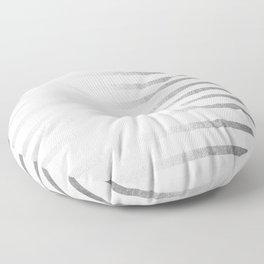Simply Drawn Stripes Moonlight Silver Floor Pillow