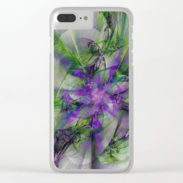 Painted with Love Clear iPhone Case