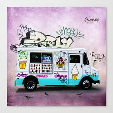Ice Cream Truck Canvas Print