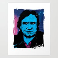 johnny cash Art Prints featuring Johnny Cash by Todd Bane