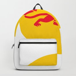 Panther Crouching Oval Retro Backpack