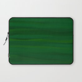 Emerald Green Stripes Abstract Laptop Sleeve