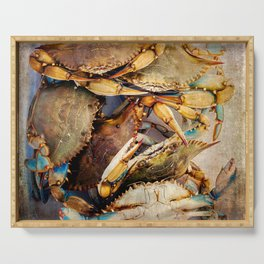 Blue Crabs Serving Tray