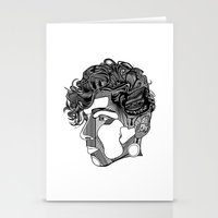 danny haas Stationery Cards featuring Danny by Alastair Vanes