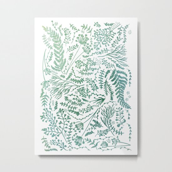 GREEN HERBS Metal Print