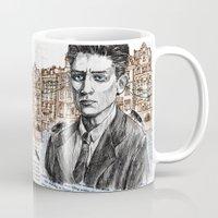 kafka Mugs featuring Kafka by Nina Palumbo Illustration