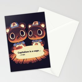 Capitalism is a Cage Timmy & Tommy Animal Crossing Stationery Cards