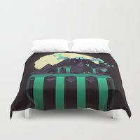 titan Duvet Covers featuring Moonlit Titan by badOdds