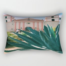 Santa Barbara Mission Rectangular Pillow