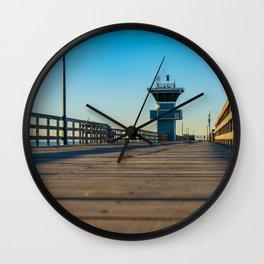 On Seal Beach Pier Wall Clock