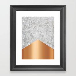 Concrete Arrow Rose Gold #147 Framed Art Print