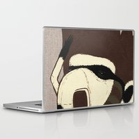 racoon Laptop & iPad Skins featuring Raino Racoon by René Barth