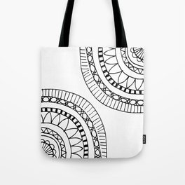 Bohemian Circle Sketch Tote Bag