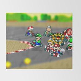 Mario Circuit Throw Blanket